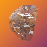 Verbazende kleurrijke die van de het kristalcluster van Diamond Quartz Rainbow Flame Blue Aqua Aura de close-upmacro op violette  Stock Afbeeldingen