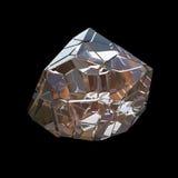 Verbazende kleurrijke die van de het kristalcluster van Diamond Quartz Rainbow Flame Blue Aqua Aura de close-upmacro op zwarte ac Stock Afbeelding