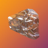 Verbazende kleurrijke van de het kristalcluster van Diamond Quartz Rainbow Flame Blue Aqua Aura de close-upmacro op violette oran Stock Afbeelding