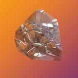 Verbazende kleurrijke van de het kristalcluster van Diamond Quartz Rainbow Flame Blue Aqua Aura de close-upmacro op violette oran Royalty-vrije Stock Afbeelding