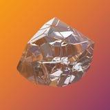 Verbazende kleurrijke van de het kristalcluster van Diamond Quartz Rainbow Flame Blue Aqua Aura de close-upmacro op violette oran Royalty-vrije Stock Foto's
