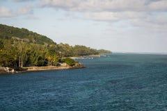 Verbazende kust van Mauritius Royalty-vrije Stock Afbeeldingen
