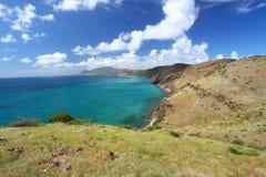 Verbazende kustlijn van Heilige Kitts royalty-vrije stock foto's