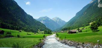 Verbazende landschappen in Zwitserland stock afbeelding
