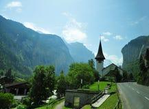 Verbazende landschappen in Zwitserland stock foto's