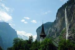 Verbazende landschappen in Zwitserland royalty-vrije stock afbeelding