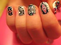 Verbazende manicure royalty-vrije stock afbeeldingen