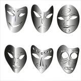 Verbazende maskers royalty-vrije illustratie