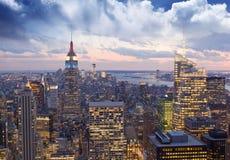 Verbazende mening aan New York Manhattan - de Stad van New York Royalty-vrije Stock Afbeelding