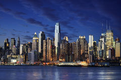 Verbazende mening aan New York Manhattan - New York stad Stock Foto