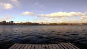 Verbazende mening Amsterdam Osterpark December 2018 stock videobeelden