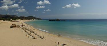 Verbazende mening - Strand Chia - Sardinige Royalty-vrije Stock Foto