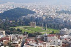 Verbazende mening van de Akropolis van Athene Royalty-vrije Stock Foto's