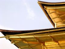 Verbazende mening van een architecturaal detail van een Japanse erfenisgebouwen in Japan stock afbeeldingen