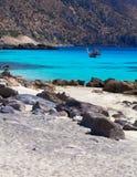 Verbazende mening van Kedrodasos-strand, Eiland Kreta royalty-vrije stock foto