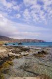 Verbazende mening van Kedrodasos-strand, Eiland Kreta royalty-vrije stock afbeelding