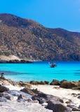 Verbazende mening van Kedrodasos-strand, Eiland Kreta Stock Afbeeldingen