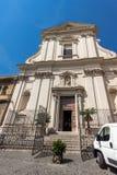 Verbazende mening van kerk van Santa Maria della Scala in Rome, Italië Stock Afbeeldingen