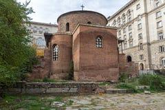 Verbazende mening van Kerk St George Rotunda in Sofia, Bulgarije Stock Afbeelding