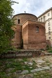 Verbazende mening van Kerk St George Rotunda in Sofia, Bulgarije Royalty-vrije Stock Fotografie