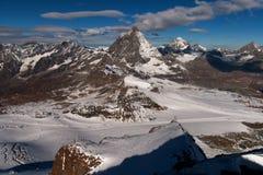 Verbazende mening van Matterhorn-piek, Valais Royalty-vrije Stock Afbeelding