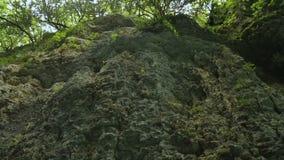 Verbazende mening van rotsen en onaangeroerde aard in Okatse-Canion, Kutaisi, Georgië stock videobeelden