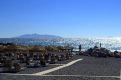 Verbazende mening van Santorini Stock Foto's