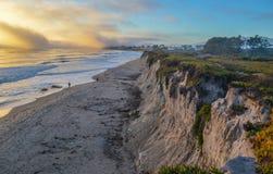 Verbazende mening van Vreedzame kust dichtbij Santa Barbara, Californië stock foto