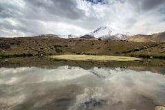 Verbazende meren Himalayan langs trek Ladahk stock fotografie