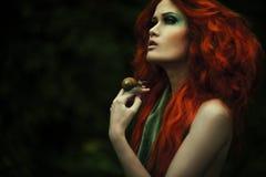 Verbazende redhaired maniervrouwen stock foto