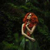 Verbazende redhaired maniervrouwen stock foto's