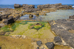 Verbazende rotsachtige kust Royalty-vrije Stock Foto
