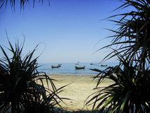 Verbazende St Martin Eilandoverzees strand-Bangladesh royalty-vrije stock foto's