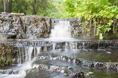 Verbazende Treppoja gestapte cascadewaterval Stock Foto's