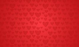 Verbazende valentijnskaartachtergrond met harten stock foto