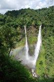 Verbazende waterval in Laos Stock Afbeelding