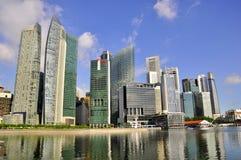 Verbazende wolkenkrabbers, Singapore horizon Stock Foto