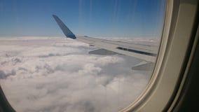 Verbazende wolkenmening van hierboven in Egypte royalty-vrije stock foto