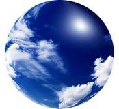 Verbazende zon in de blauwe hemel. Stock Foto's