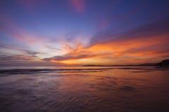 Verbazende zonsondergang Royalty-vrije Stock Afbeeldingen