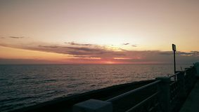 Verbazende zonsondergang Royalty-vrije Stock Afbeelding