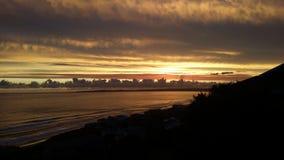 Verbazende zonsondergang royalty-vrije stock foto