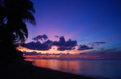 Verbazende zonsondergang Stock Foto's