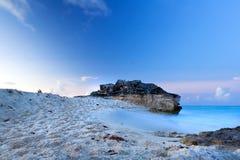Verbazende zonsondergang bij Caraïbische Zee Royalty-vrije Stock Fotografie