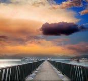 Verbazende zonsondergang voor adv Stock Afbeelding