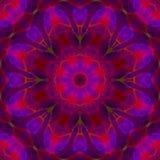 Verbeelding van de Mandala de grafische symmetrie om creativiteitornament, oosters behang helder mozaïek, royalty-vrije illustratie