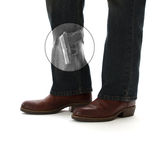 Verberg dragen Pistool in de Mening van de Röntgenstraal Stock Foto's