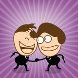 Verbergen nette Hand des Geschäftsmannes zwei Kontrollherein von der Aufrichtigkeitsbeziehung Stockbild
