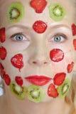 Verbessern der Schablone von der Frucht Stockbild