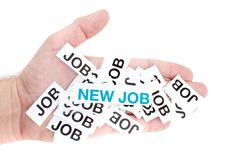 Verbessern Sie Job, neuen Job, Spitzenjob lizenzfreie stockbilder